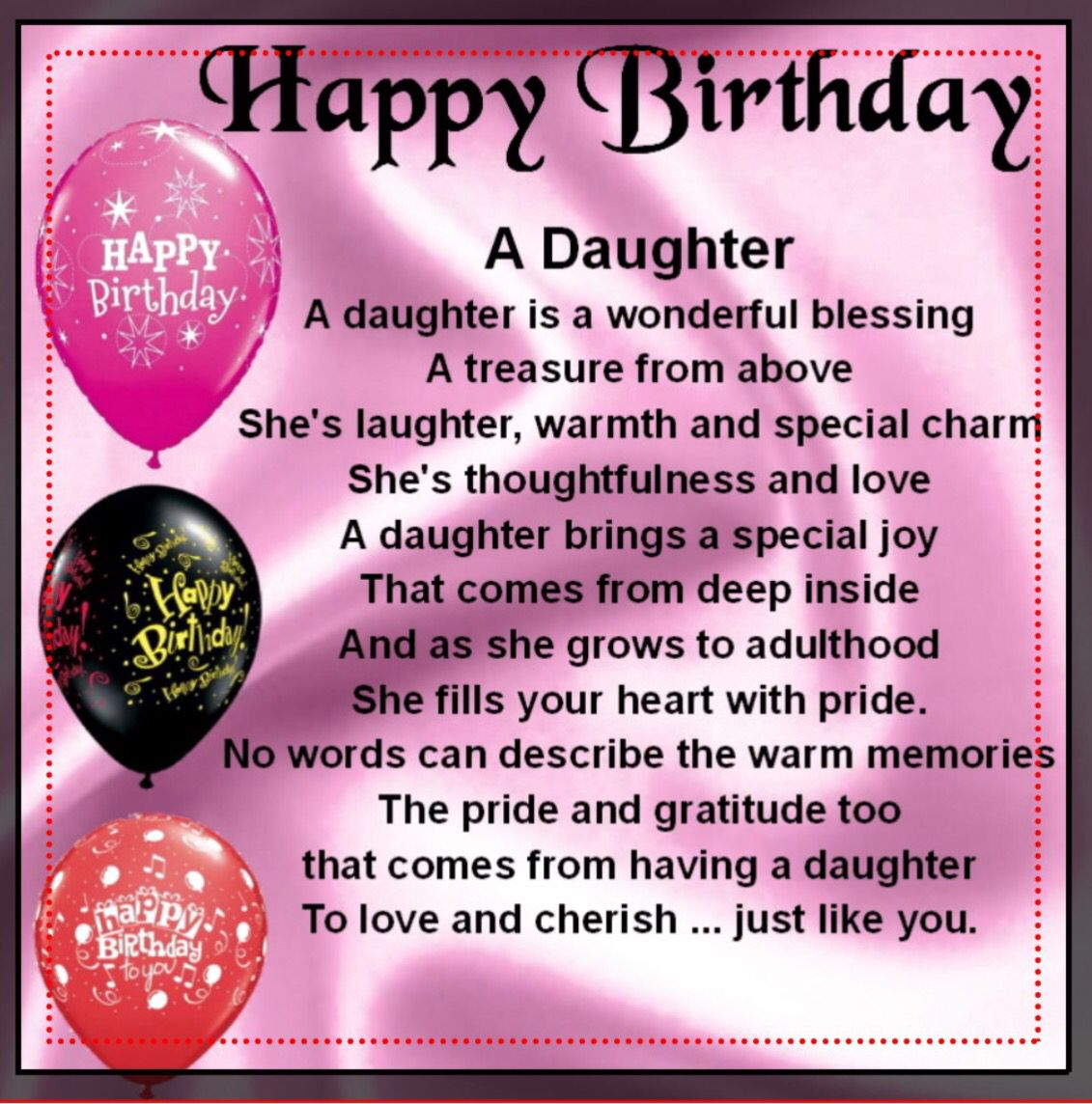 Happy Birthday daughter … | Birthday wishes for aunt, Birthday wishes for  daughter, Wishes for daughter