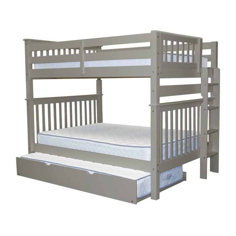 Treva Twin Over Full Bunk Bed With Trundle Bunk Bed With Trundle Trundle Bed Full Bunk Beds Full over full trundle bed