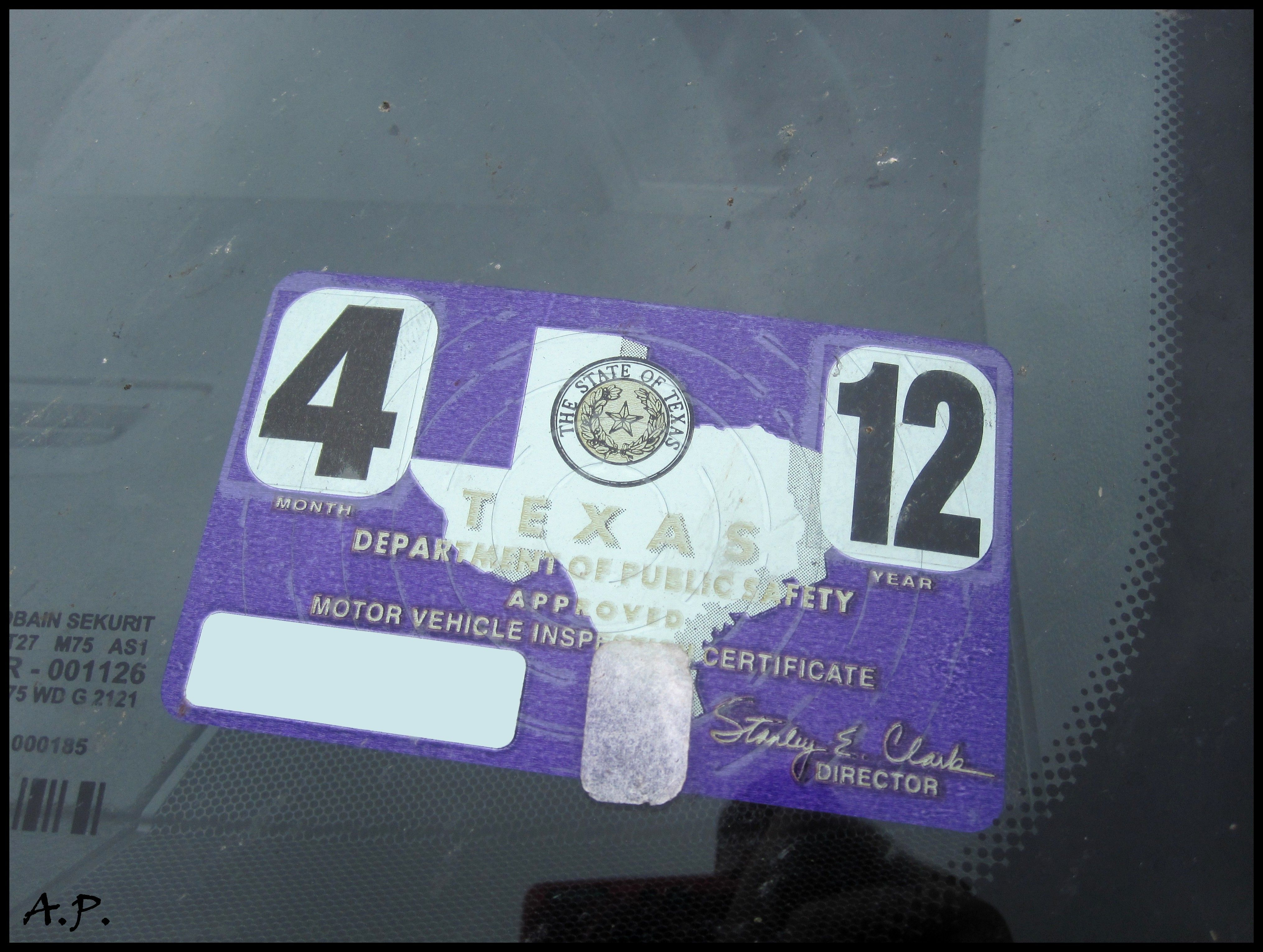 Vehicle registration renewal is different in the state of texas inspection sticker