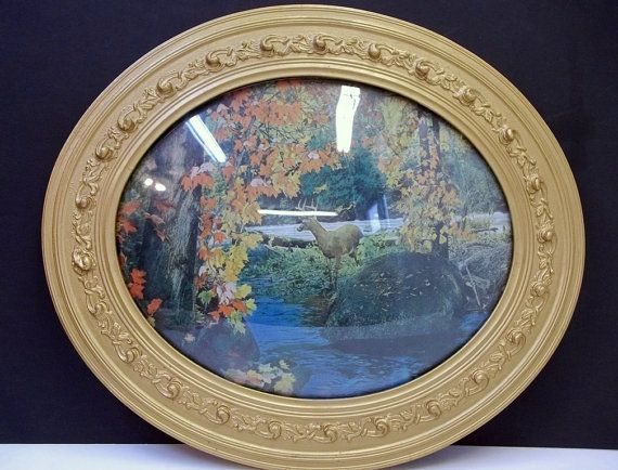 Antique Oval Gold Picture Frame Convex Glass Autumn by donDiLights ...