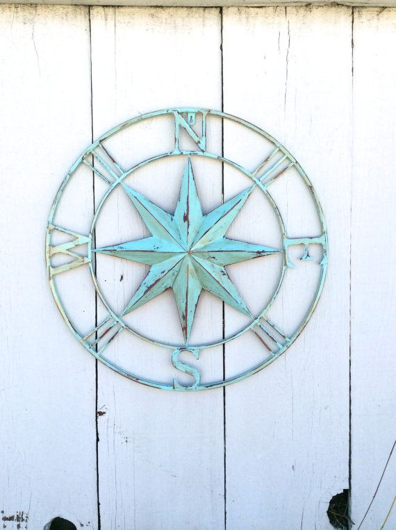 "26"" Nautical Compass Wall Art, Nautical Decor, Nautical ..."
