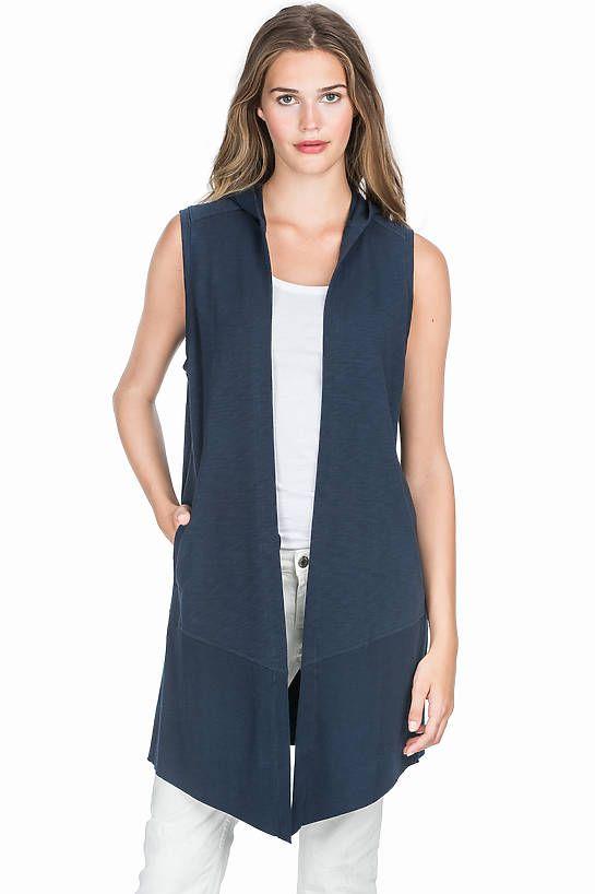 53d634452 Lilla P Hooded Vest   Spring 2017 Trends   Hooded vest, Vest, Jackets