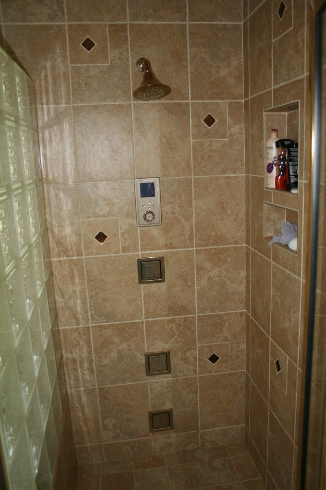 Walk-In Tile Showers | Tile Walk-In Shower with Wall Jets ...