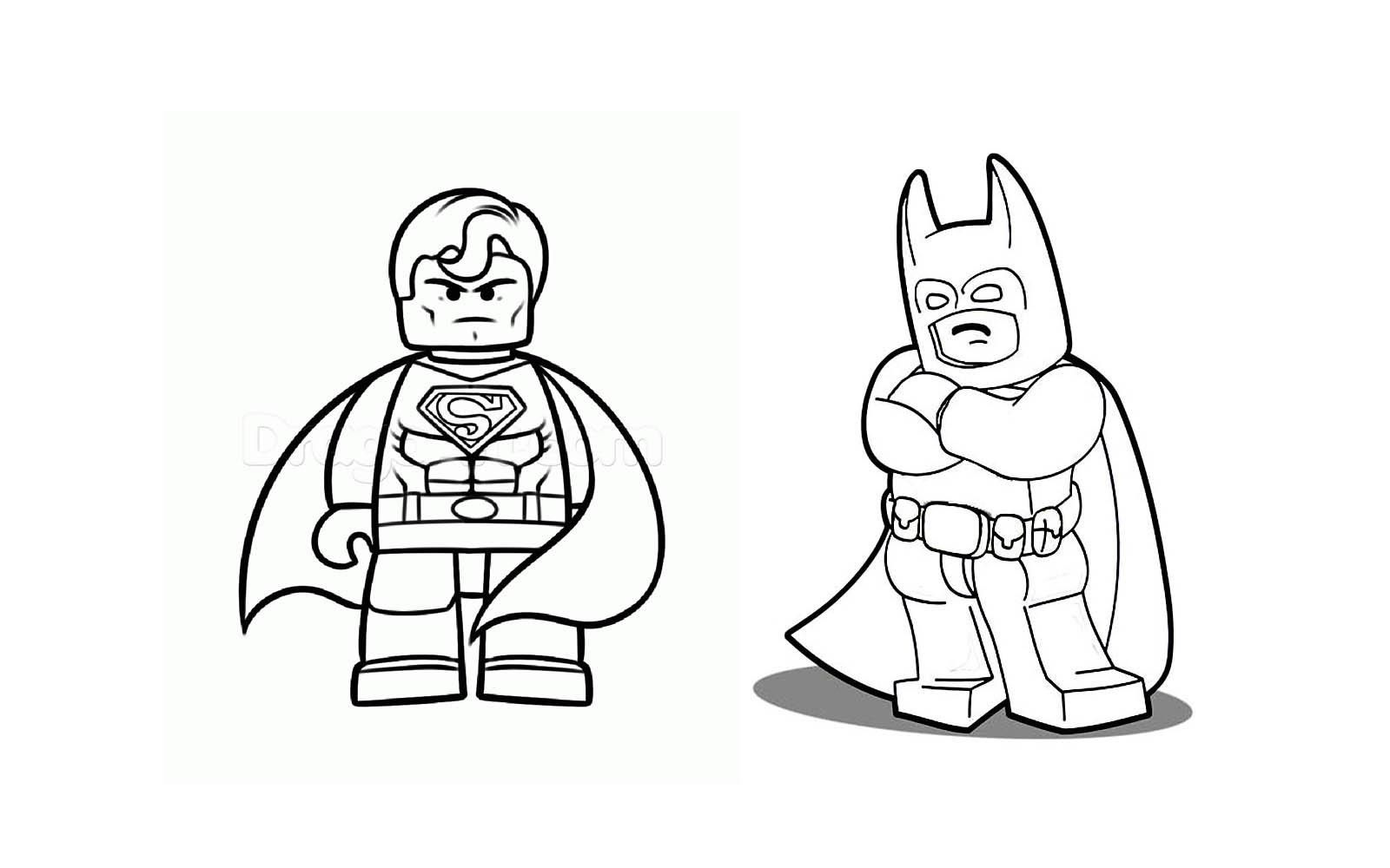 Lego Superman Coloring Pages Lego coloring pages