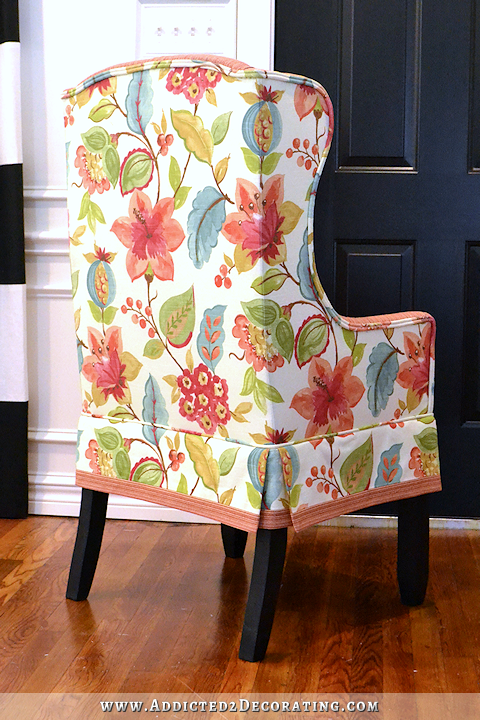 diy upholstered wingback dining chair finished how to upholster
