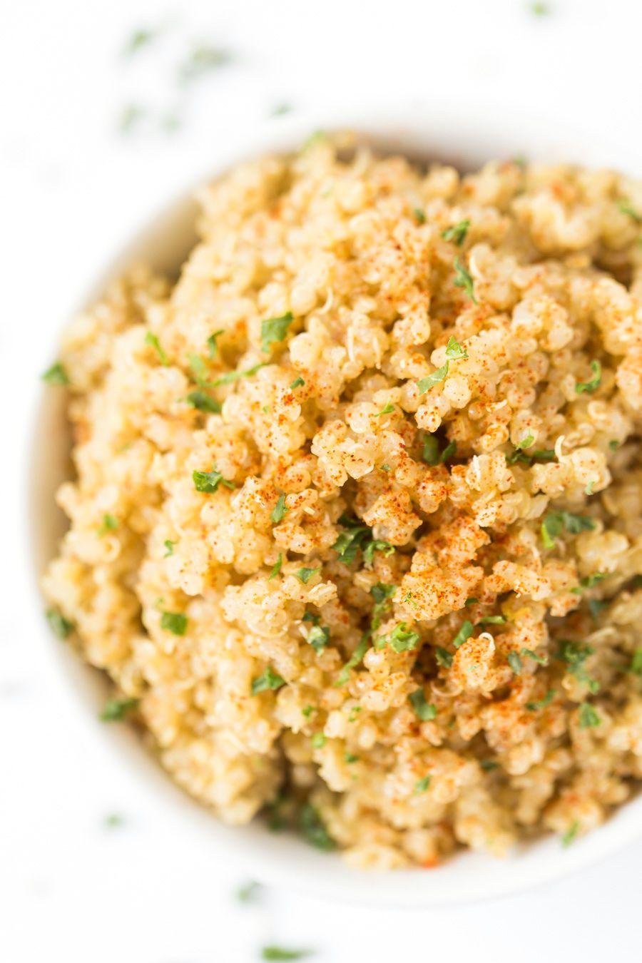 5 Ingredient Garlic Butter Quinoa