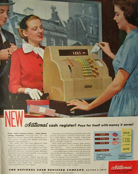 Vintage Magazine Ads | Magazine Ads Vintage Ads Misc 1954 National Cash  Register Ad