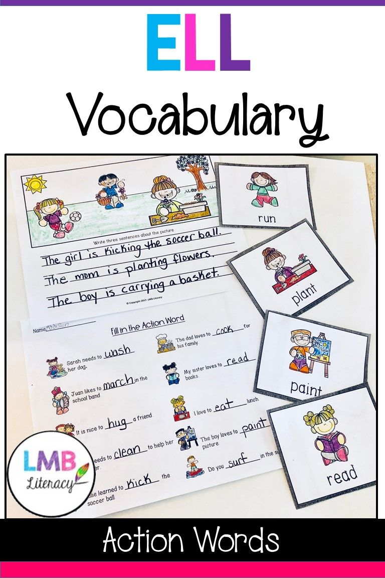 Esl Newcomer Activities Action Words With Flash Cards And Writing Newcomer Activities Action Words Elementary Writing Esl writing activities upper