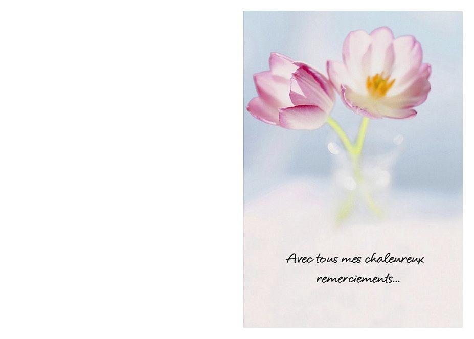 Extrêmement Imprimer Carte Remerciements A Fleur Condoleances Deces | CARTE  QN22