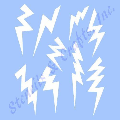 Details About Lightning Bolt Stencil Template Scrapbook Celestial Craft Pattern Paint Art New With Images Stencils Painting Patterns Lightning Bolt