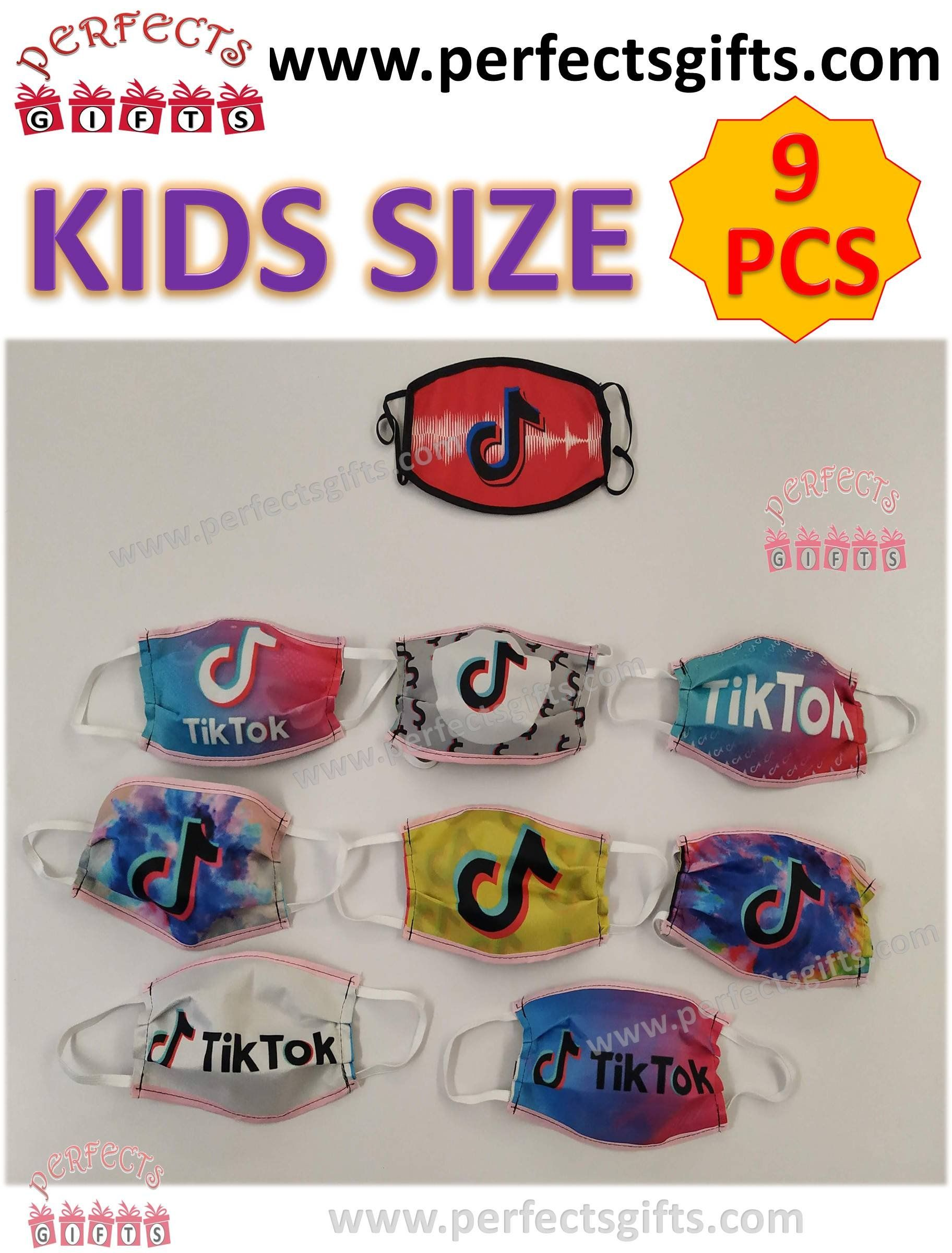 Tik Tok Tiktok Face Mask Handmade Tik Tok 9 Pieces Set Fabric Facemask Kids C Theperfectgift Kids C Handmade Tik Tok
