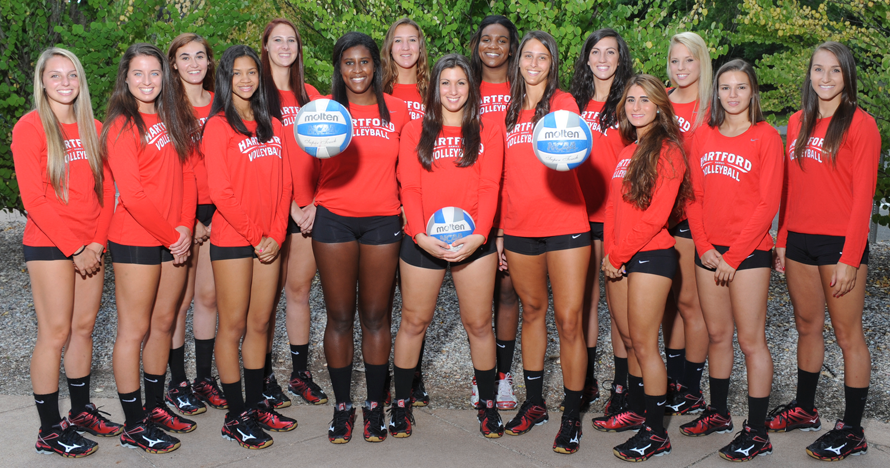 Hartford Hawks Athletics 2014 Women S Volleyball Roster Women Volleyball Volleyball Team Photos Volleyball Team