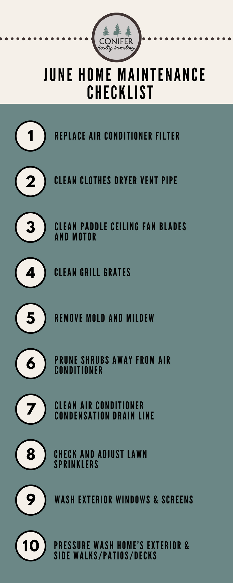 june home maintenance checklist | real estate | home