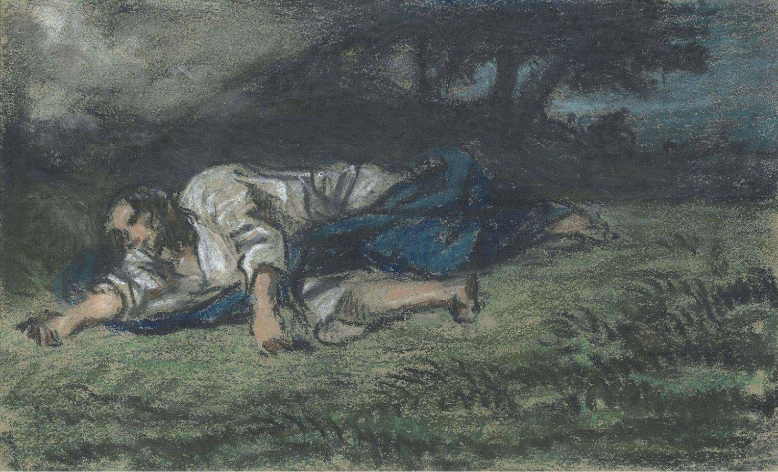 Eugene Delacroix (1798-1863) The Agony in the Garden 1851 (15,5 x 25 cm)