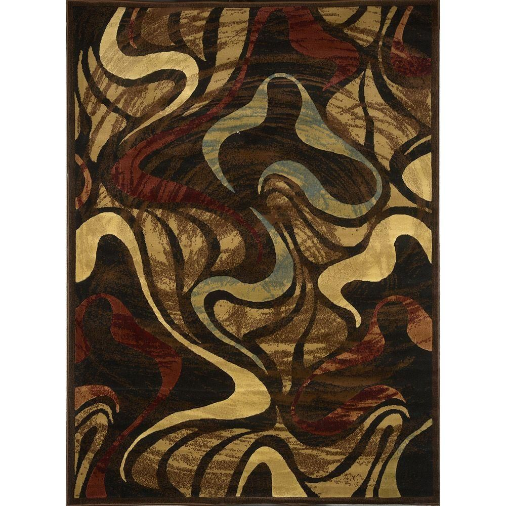 Home Dynamix Catalina Black 7 Ft 10 In X 10 Ft 2 In Indoor Area Rug 1 4473 450 The Home Depot Black Area Rugs Contemporary Area Rugs Home Dynamix