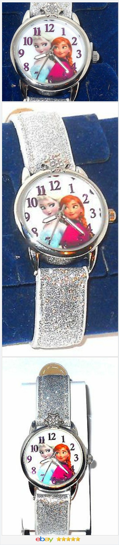 50% OFF #Ebay http://stores.ebay.com/JEWELRY-AND-GIFTS-BY-ALICE-AND-ANN Disney Frozen Anna and Elsa Glitter Watch USA Seller