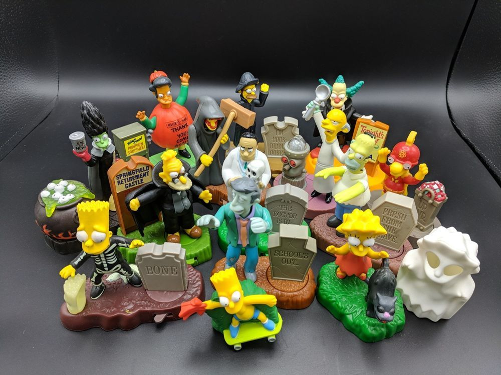Halloween Simpsons Treehouse Of Horror.The Simpsons Halloween Toy Treehouse Horror Loose Figure Burger King