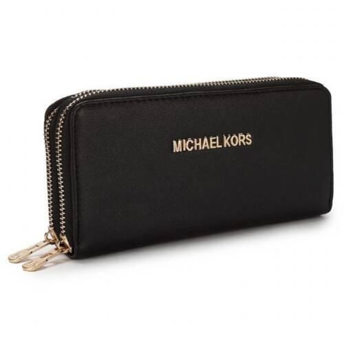 charming michael kors saffiano continental large black wallets make rh pinterest com