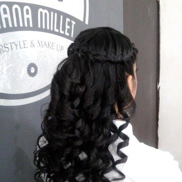 Peinado, trenza de cascada, braids, muah, hair,