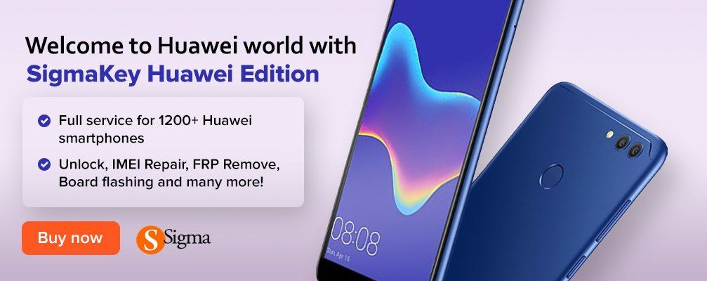 Sigma software allows to service thousands of models of Huawei