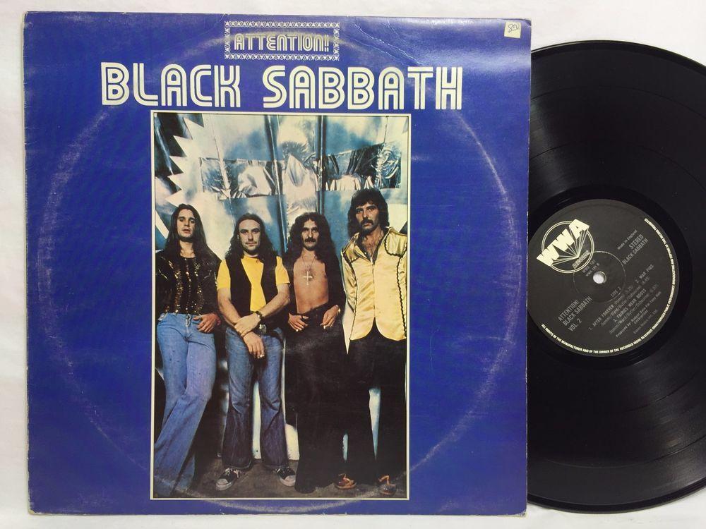 Black Sabbath  Attention! Black Sabbath LP #Vinyl Record UK Pressing WWA Label