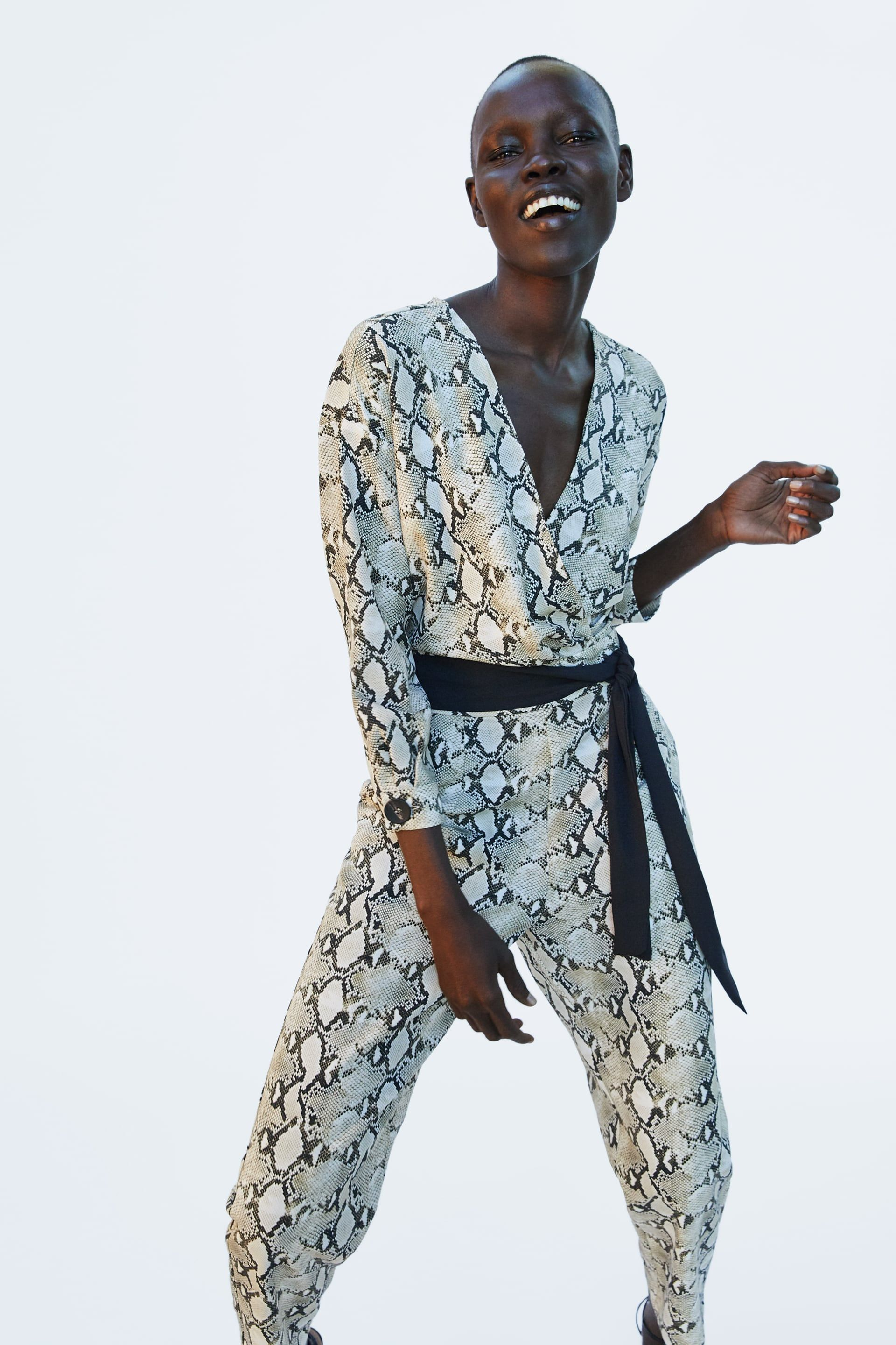 a59c73c4b19 Image 2 of SNAKESKIN PRINT JUMPSUIT from Zara