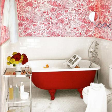 Beautiful Red Bathroom Ideas