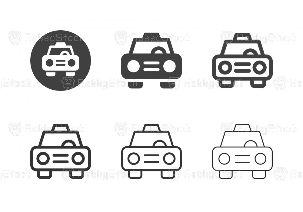 Taxi Icons Multi Series Vector Eps File Pictogram Design Icon Vector Icons Symbols