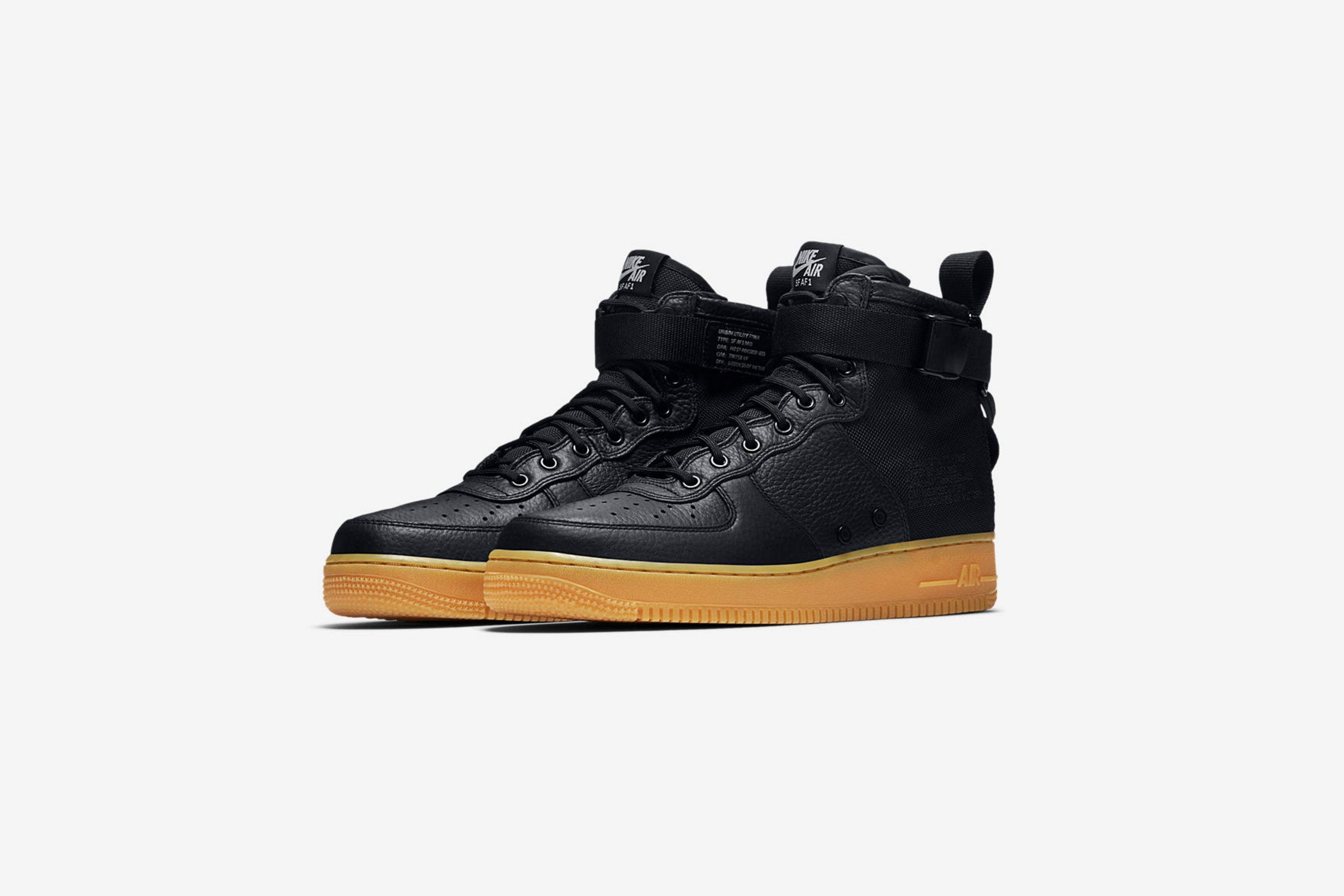 Available Now: Nike Special Field Air Force 1 Mid Black Gum • KicksOnFire. com