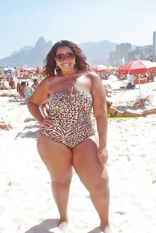 bikini woman in Fat black