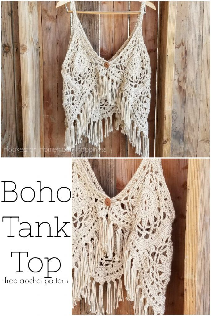 Crochet Boho Tank Top Crochet Vest And Jackets Pinterest