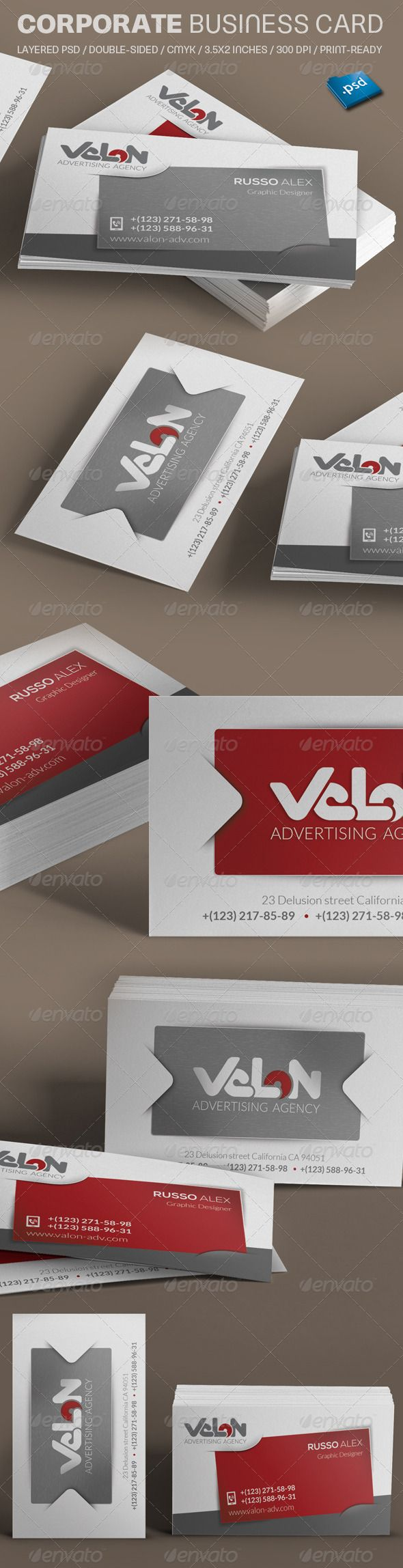 Clean Business Card | Business cards