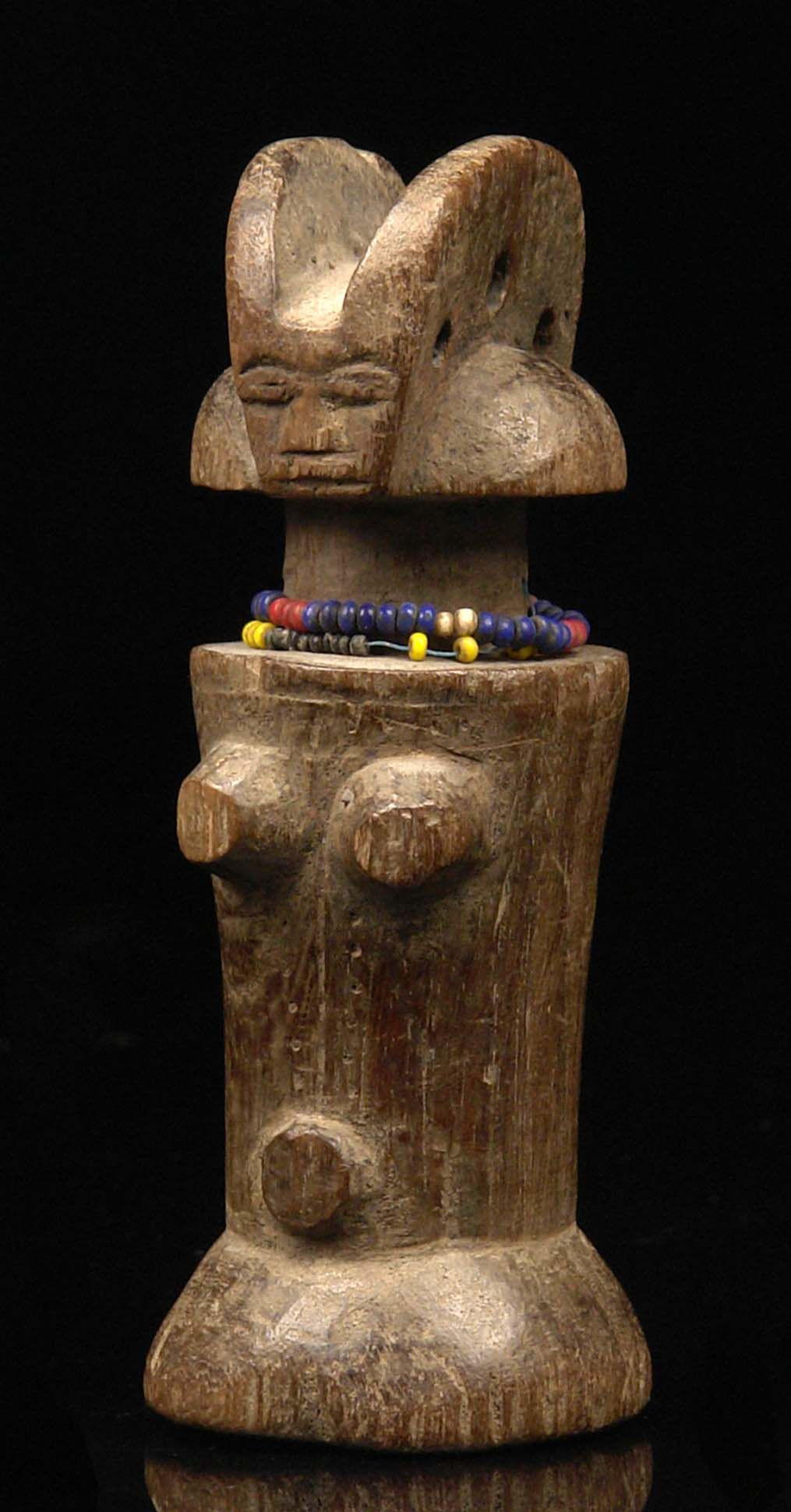 "Africa | Fertility doll ""mwana hiti"" from the Zaramo people of Tanzania 