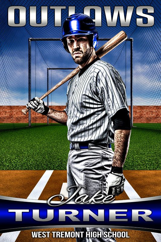 Player Banner Photo Template Batting Cage Pinterest Sports - Sports banner templates