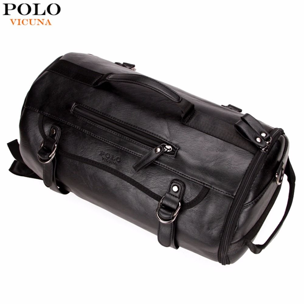 Find More Travel Bags Information about VICUNA POLO Personality Large Size  Round Leather Mens Travel Bag Fashion Rolling Travel Backpack For Man  Famous ... 6238828516eac