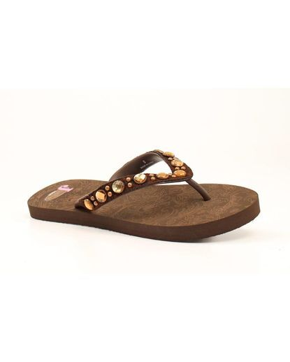 ae2c6e129 Slip into these sandals by Justin and you ll have happy feet ...