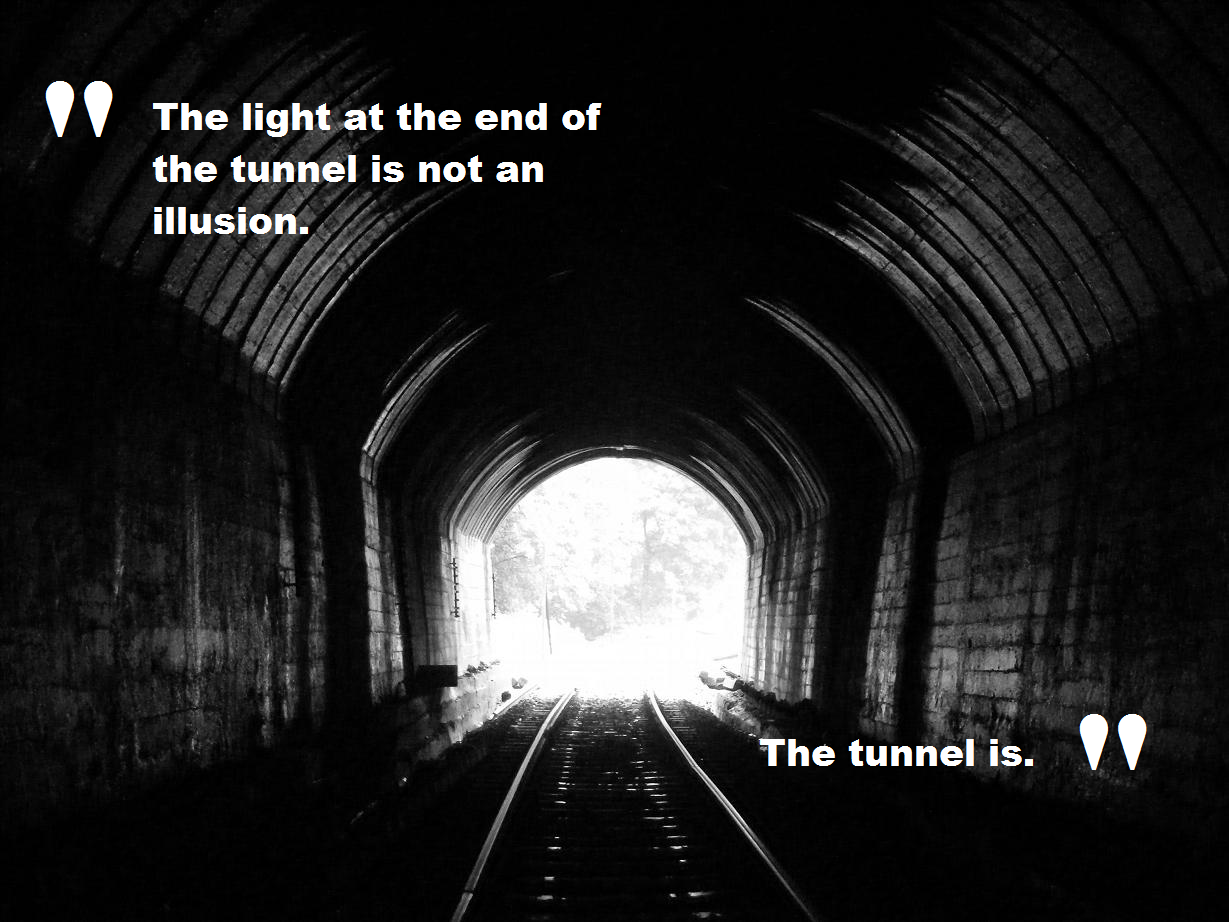 Image result for Light at the end of a dark Tunnel picture
