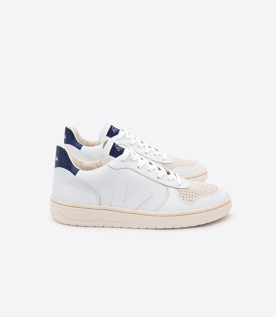 Descomponer Desierto Zapatos antideslizantes  V-10 VEJA X BLEU DE PANAME EXTRA WHITE - EN - VEJA STORE   Bleu de paname,  Chaussures homme, Baskets bleues