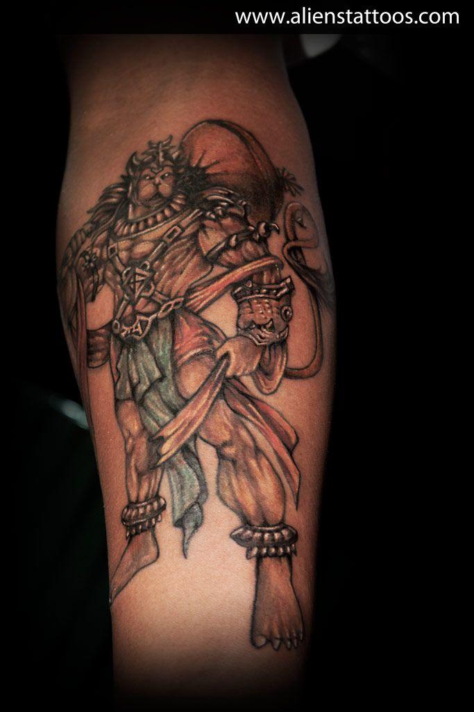 Lord Hanuman Tattoo, Inked by Sunny at Aliens Tattoo ...