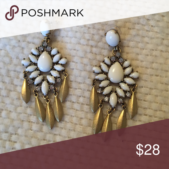 ba47e28662 Stella & Dot Mallorca earrings These white and gold earrings are stunners  and will go with