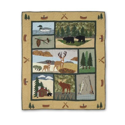 Lodge Fever Cotton Throw Throw Quilt Patch Magic Quilts