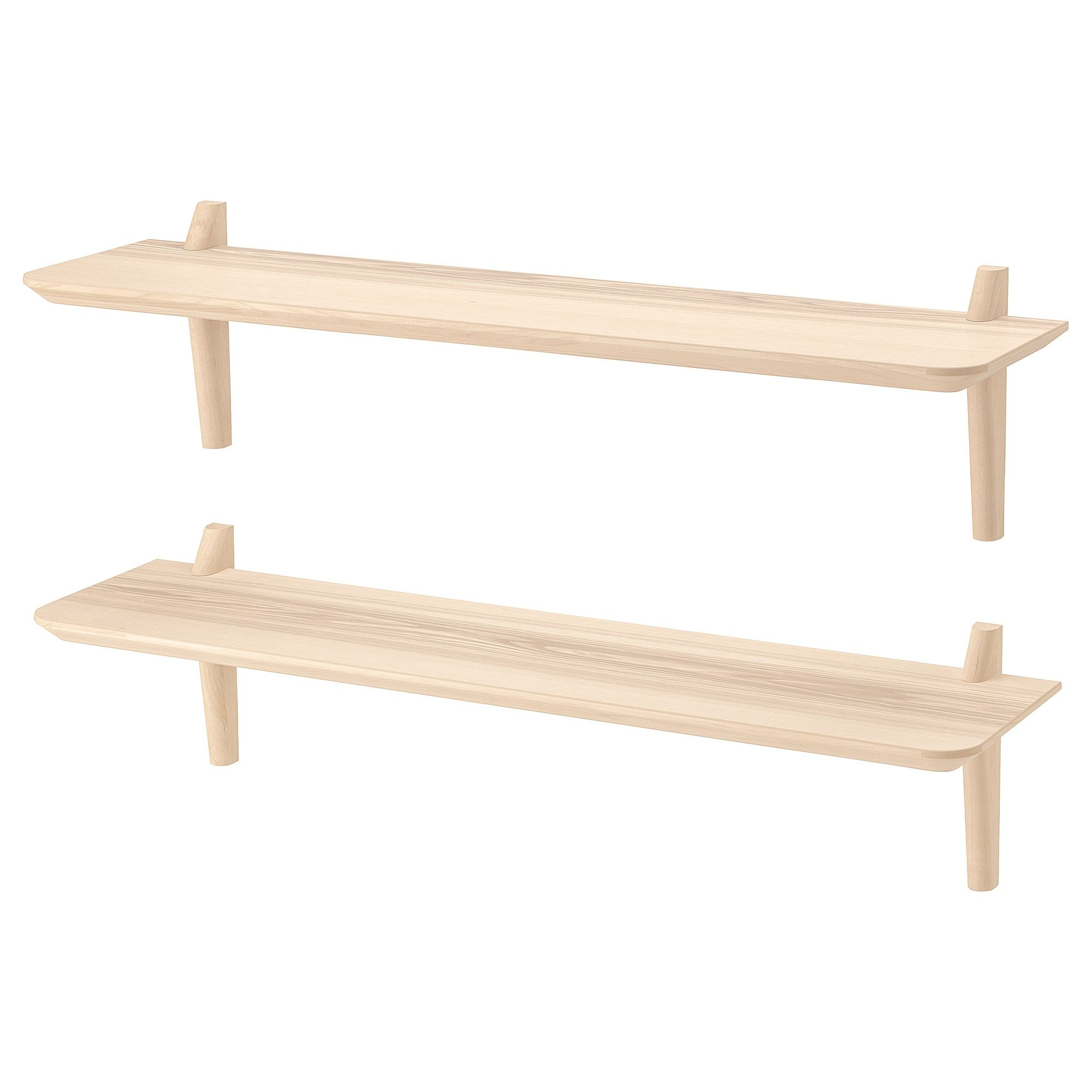 Lisabo Wall Shelf Combination Ash Veneer 46 1 2x11 3 4x11 3 4