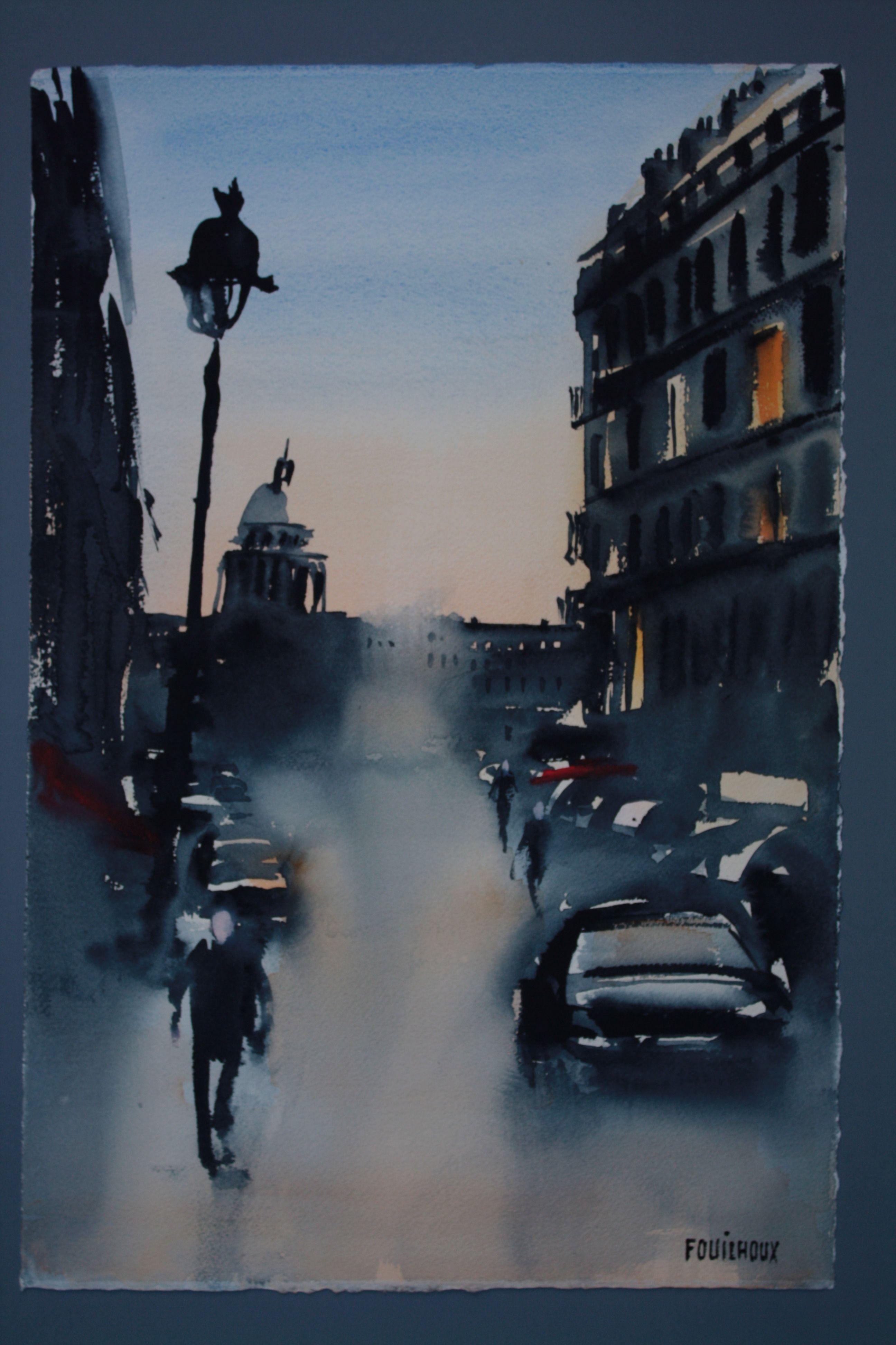 Patrick Fouilhoux Serie Noire Cours De Peinture Aquarellistes