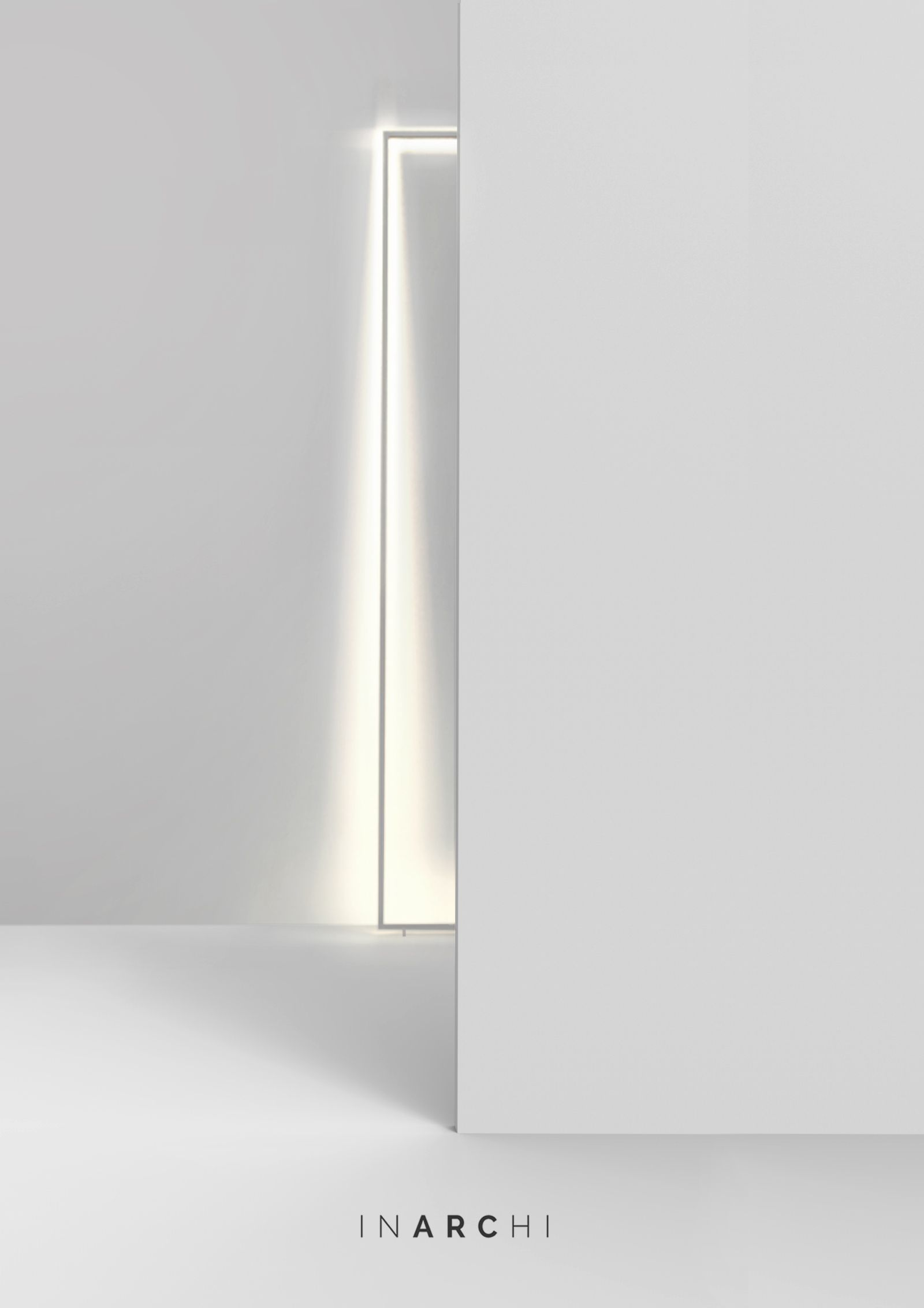 FRAME floor Free-standing aluminium frame with high-performance LED ...