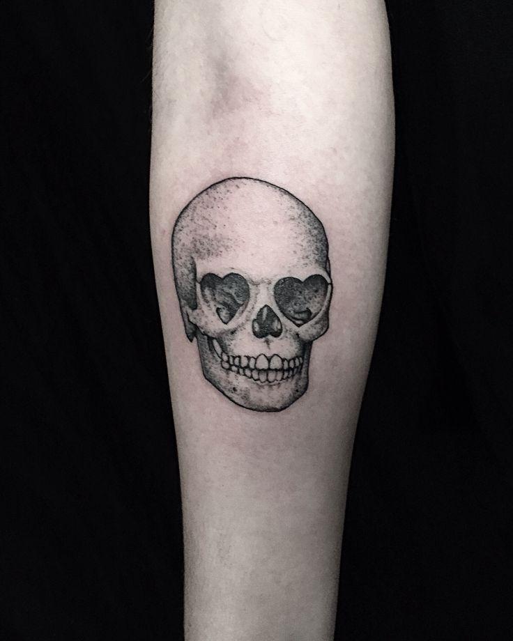 Photo of Herzäugiger Schädel. #tattoo #losangeles #schädel #herzen #rein #thehonorablesociety …  #He…