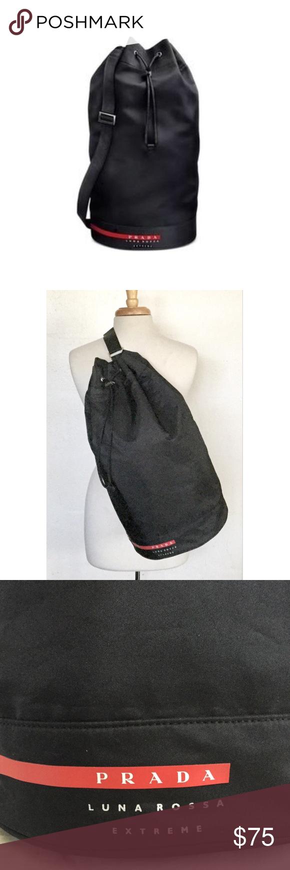 8648003691d9 Prada Luna Rossa Extreme Duffle Bag New in original zip lock bag. Measures  21