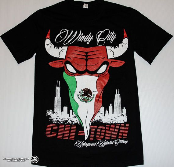 Windy City Chitown Mexican Flag Bandan Bull by UndergroundUnltd ... 82f565b35