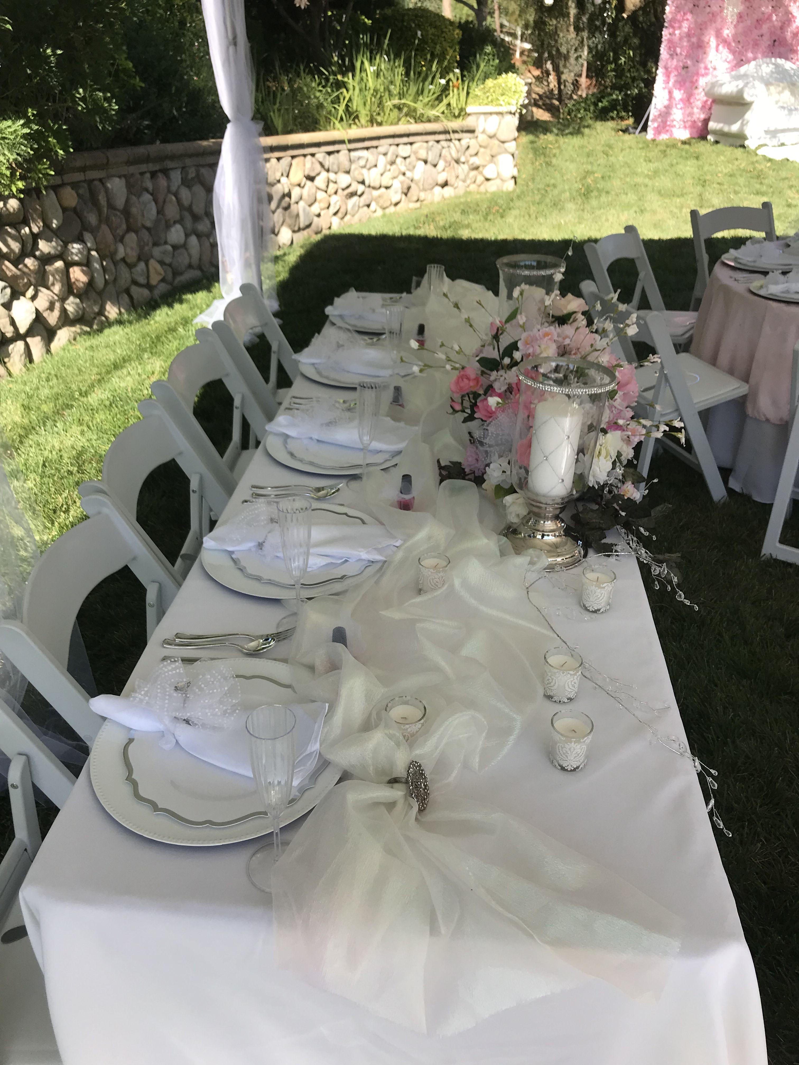 Head table Floral bridal shower, Floral bridal, Table