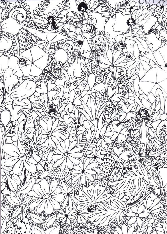 15 Fantastic Free Colouring Pages For Adults Garden Coloring
