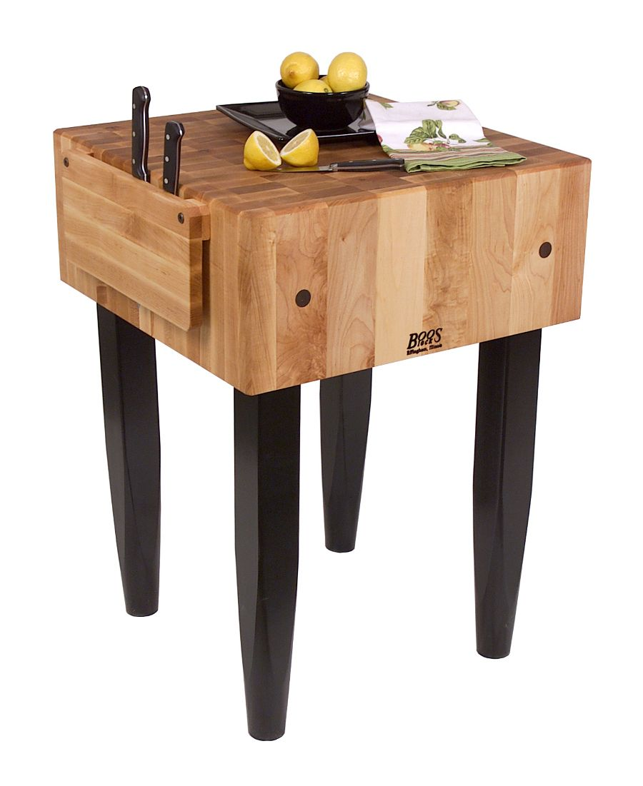 """John Boos """"PCA"""" Block - 10"""" Thick Butcher Block With Knife Holder at ..."""